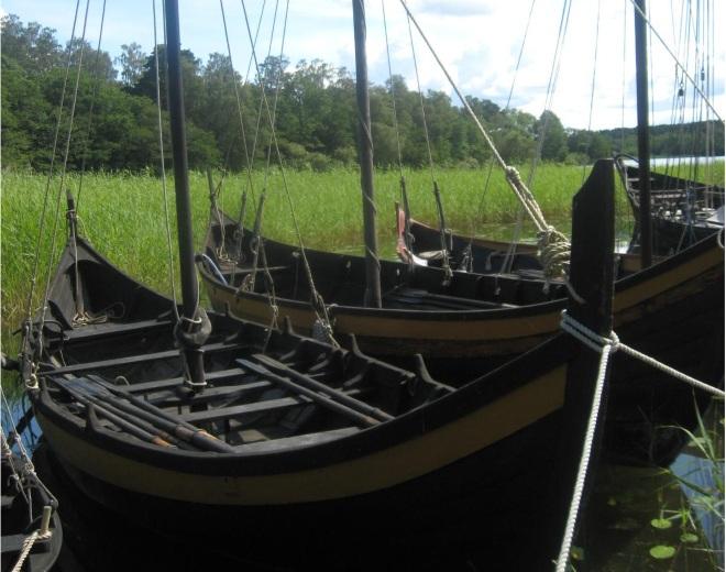 Корабли викингов в гавани