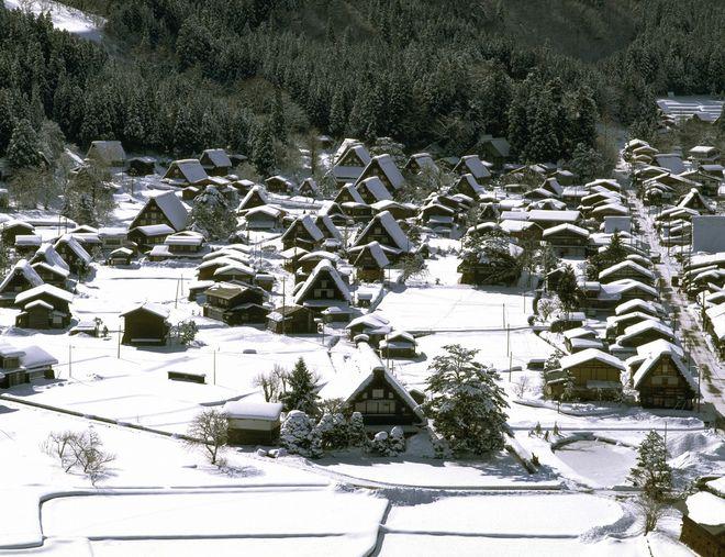 Окрестности Такаямы зимой