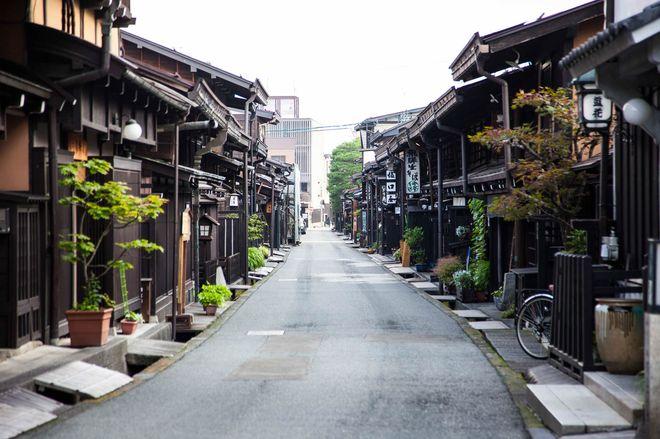 Старинные улицы в Такаяме