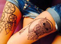 tatuaż henny na piechotę 6