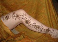 tatuaż henny na piechotę 7