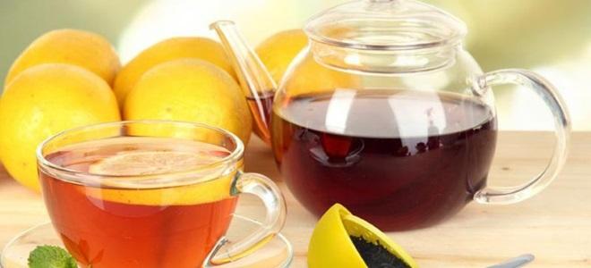 Црни чај са лимуном