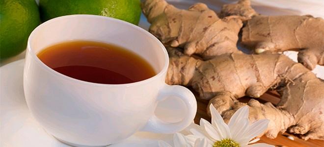 Чај са ђумбиром и лимуном
