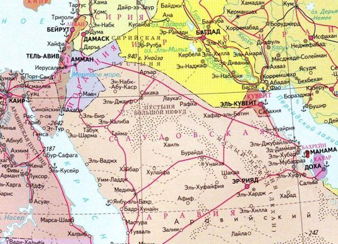 Тель-Авив на карте мира
