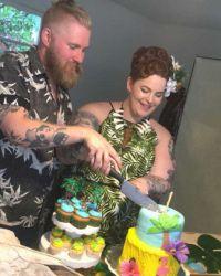 Пара организовала вечеринку в честь своего будущего наследника