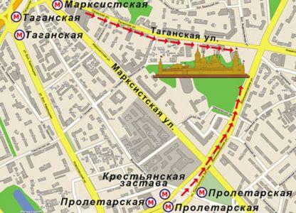 tempelj tempelj na moskovskem zemljevidu