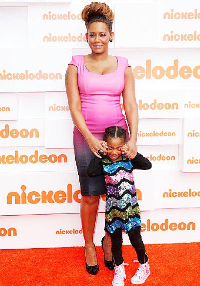 Мелани Браун с дочкой Мэддисон
