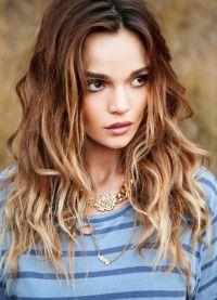ombre efekt spálených vlasů 1