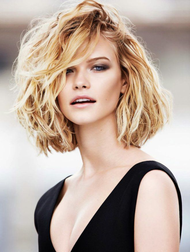 эффект мокрых волос на средние волосы блондинка