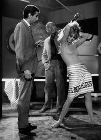 Бриджит Бардо на съемках фильма Отпустите Поводья