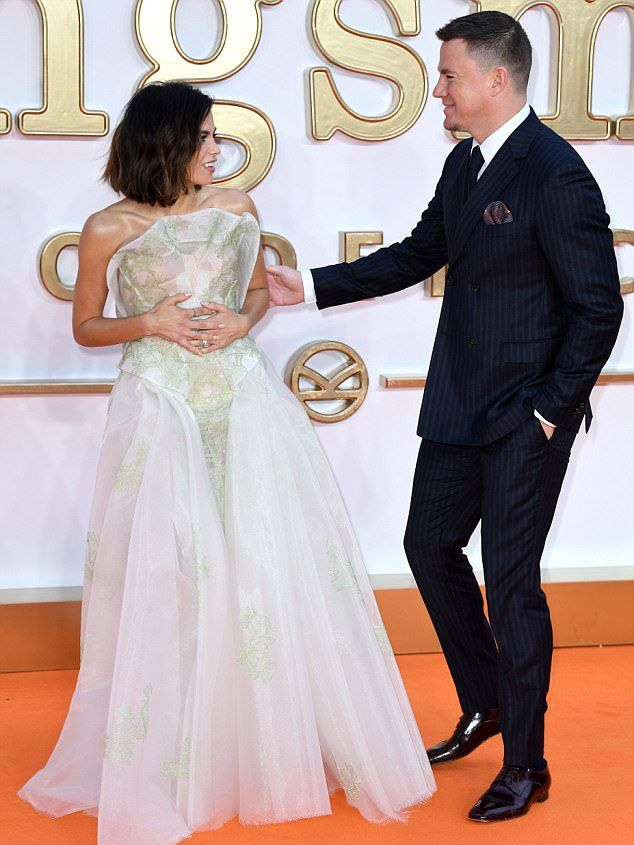 Дженна Деван-Татум с мужем премьере «Kingsman: Золотое кольцо»