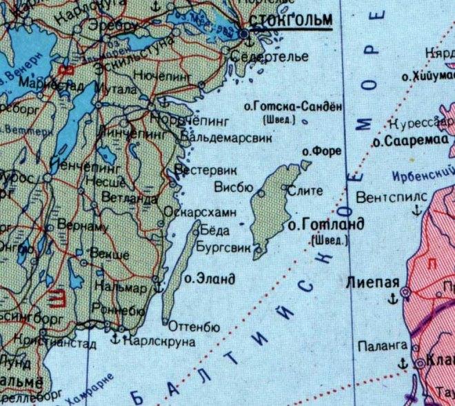 Острова Швеции на карте