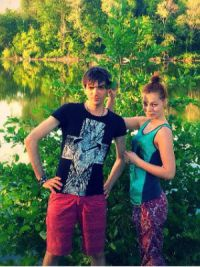 Пара любит проводить время на природе