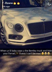Кайли подарила возлюбленному белый Bentley
