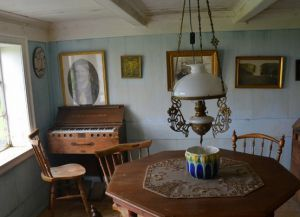 Внутреннее убранство в домах в музее Скогар