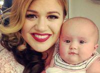 Kelly z pierwszą córką Rose