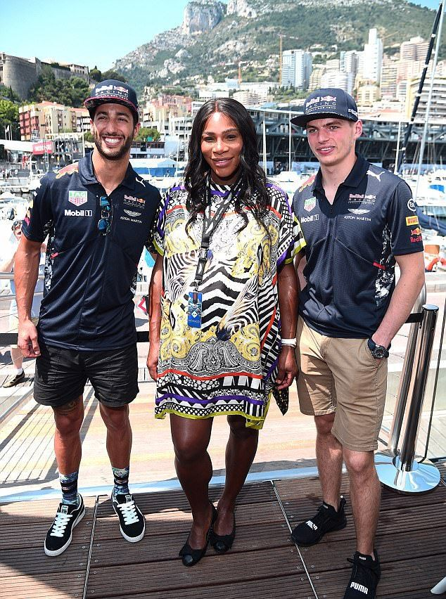 Серена в минувшее воскресенье на  Гран-при Формулы-1 в Монако