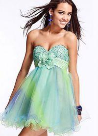 Namještena haljina s pahuljastom suknjom 2