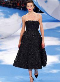 Namještena haljina s punom suknjom 3