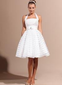 Namještena haljina s punom suknjom 4