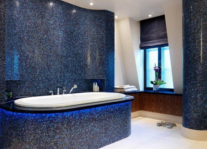 плитка мозаика синяя