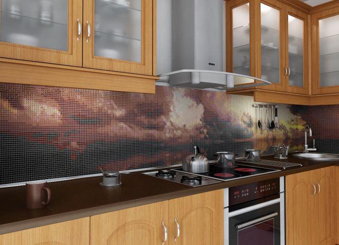 плиточная мозаика для кухни