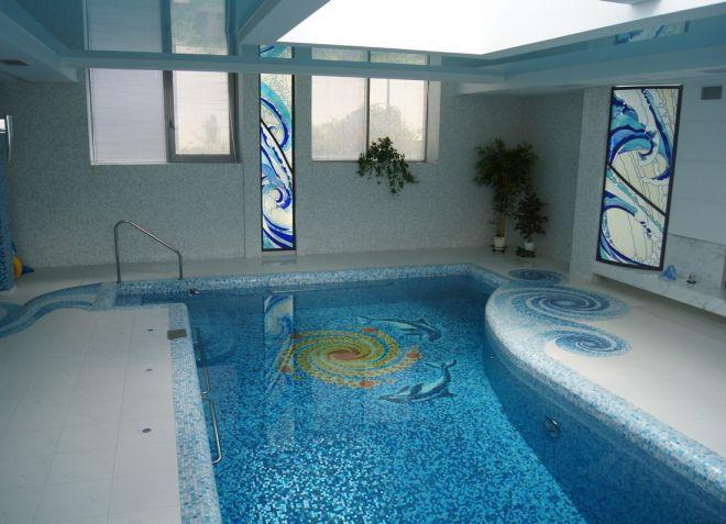 плитка мозаика для бассейна