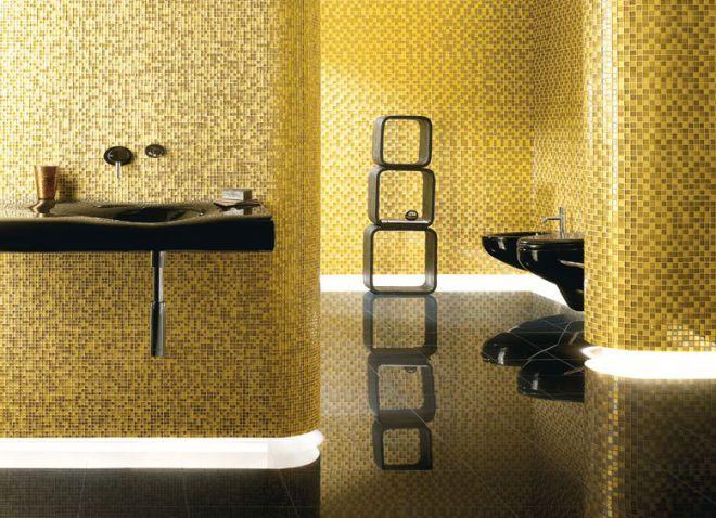 плитка мозаика золотая