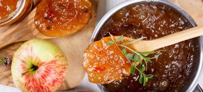 Tkemali z jabłek - przepis na zimę