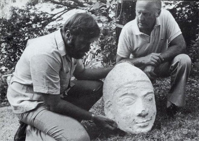 Находка - голова статуи Будды