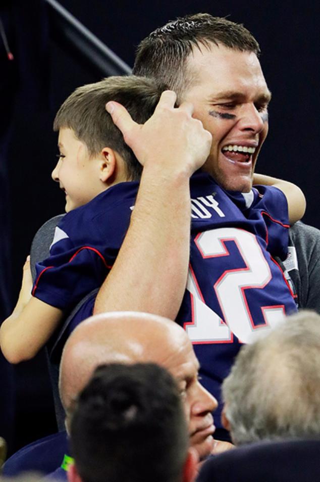 Том Брэди с сыном Бенджамином