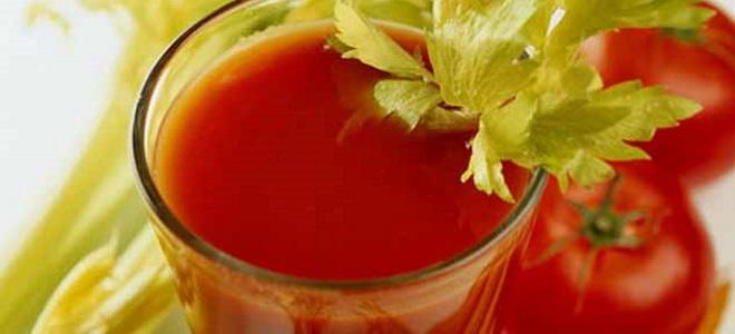 парадајз сок са целером за зиму