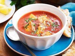 rajská polévka s mořskými plody