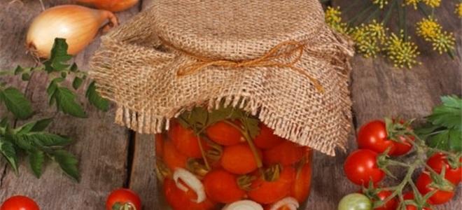 słodkie pomidory na zimę bez octu
