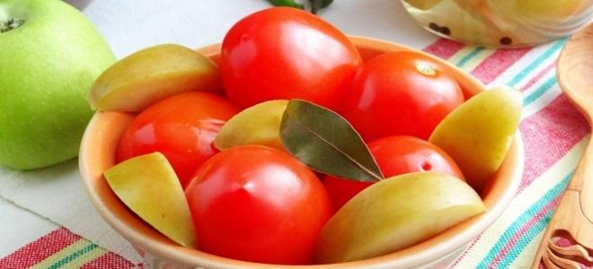 парадајз са јабукама за зиму без сирћета