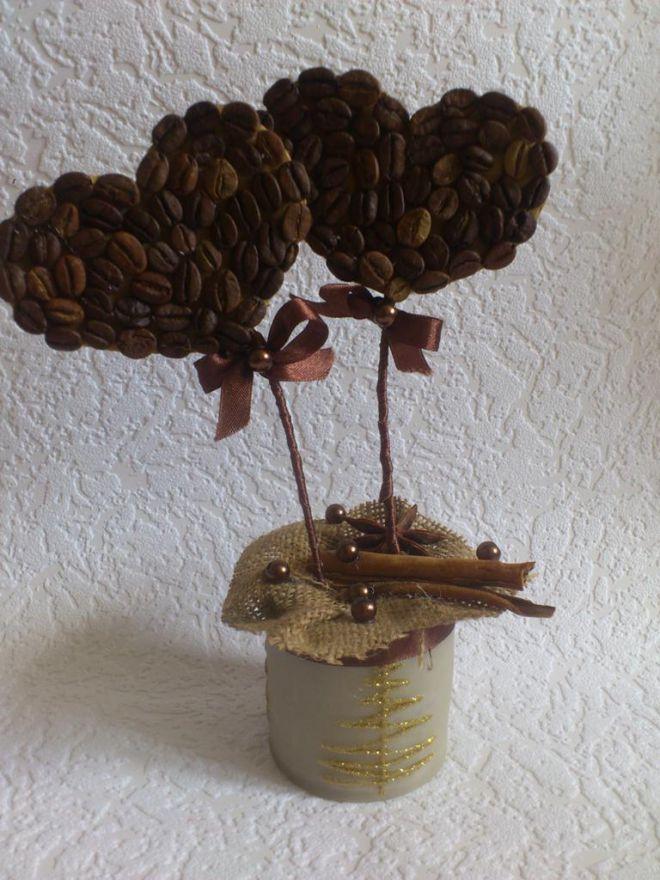 топиари од кафе зрна сопственим рукама 17