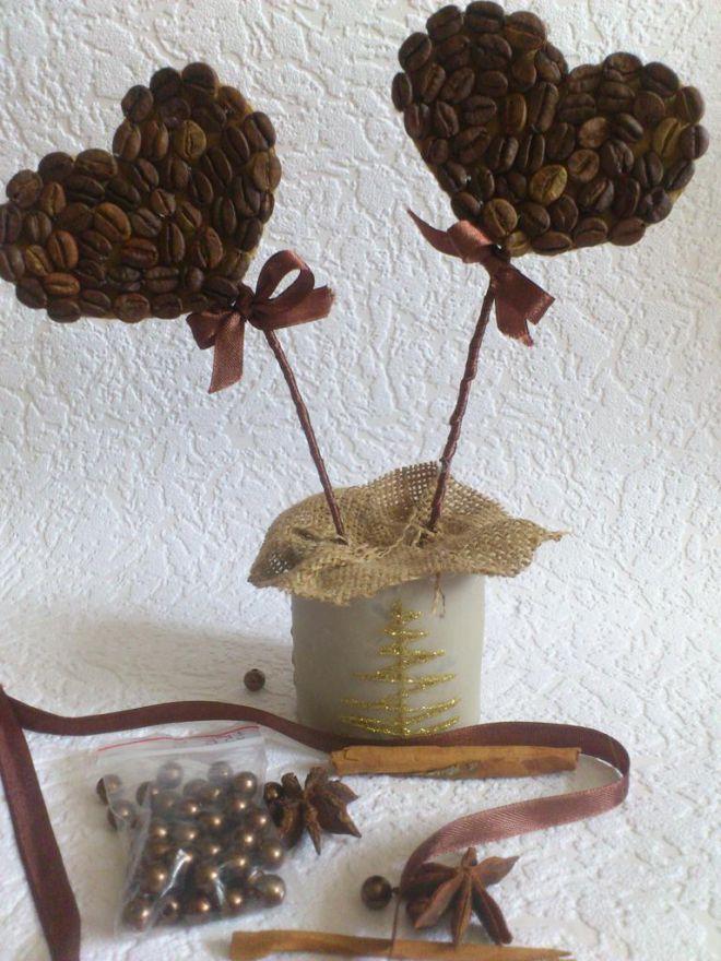 топиари од зрна кафе сопственим рукама 16