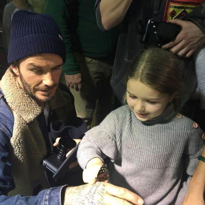 Дэвид с детьми посетил музей в Нью-Йорке