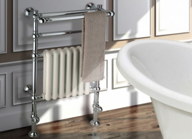 Напольный полотенцесушитель водяной