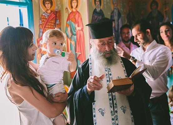 Крещение ребенка на Кипре