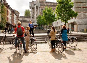 Велосипед - популярный вид транспорта в Брюсселе