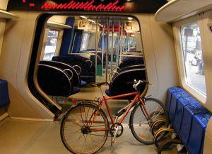 Транспорт Дании парковка велосипедов в поезде
