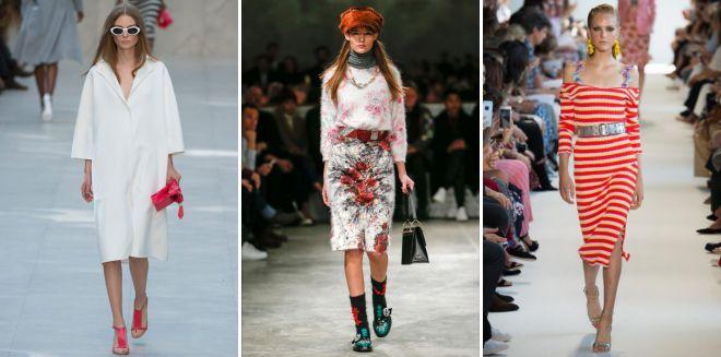 тренды весна лето 2018 одежда
