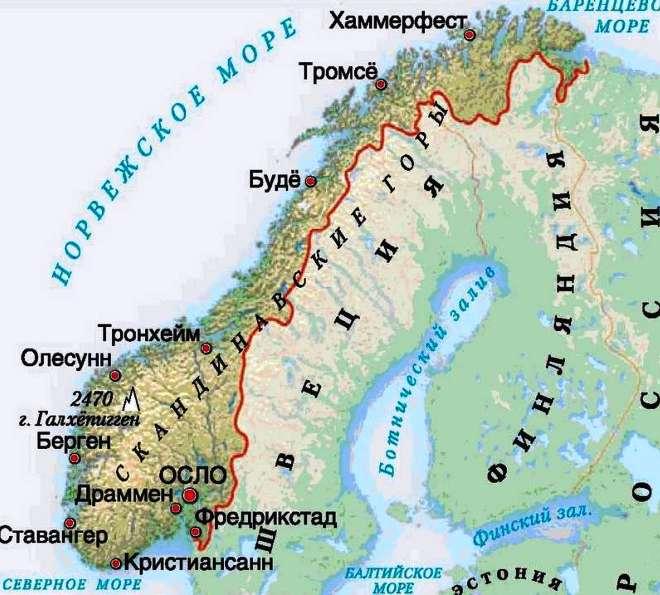Тромсё на карте