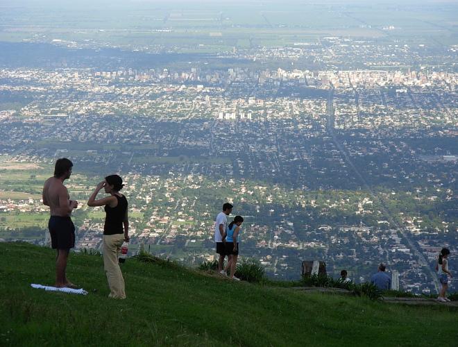 Вид на город Тукуман