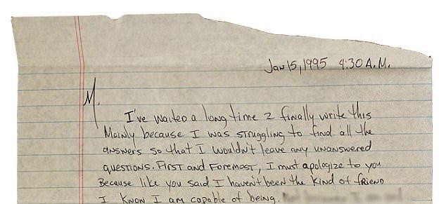 Часть личного письма Тупака Шакура Мадонне