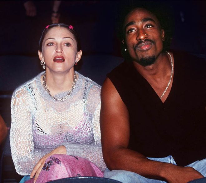 Пара Мадонна и Тупак Шакур