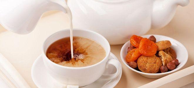kot uporaben čaj z mlekom