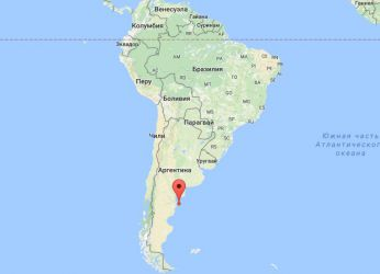 Полуостров Вальдес на карте