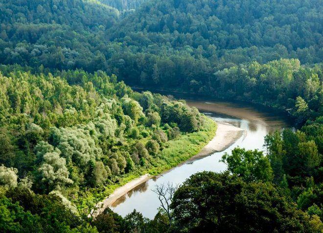 Река Гауя - достопримечательность в окрестностях Вангажи